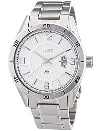 Just Watches Herren-Armbanduhr XL Analog Quarz Edelstahl 48-S9279S-SL