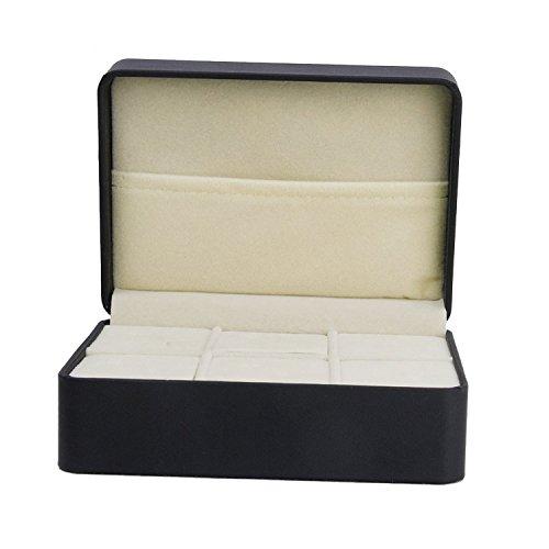 SODIAL(R) 1 piezas Caja de joya estante de lazo negro Caja de almacena