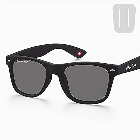 NEW Polarizzati Occhiali da sole Wayfarer Vintage Uomo Donna Unisex nero UV400Eyewear mondo Eye Wear