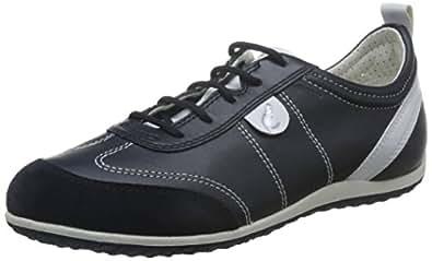 Geox Damen D Freccia A Sneakers, Schwarz (blackc9999), 37 EU