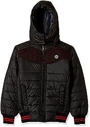 Fort Collins Boys Regular Fit Jacket (76126_Black_26 (6 - 7 years))