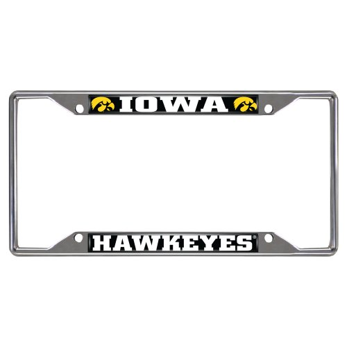 FANMATS NCAA University of Iowa Hawkeyes Chrome License Plate Frame