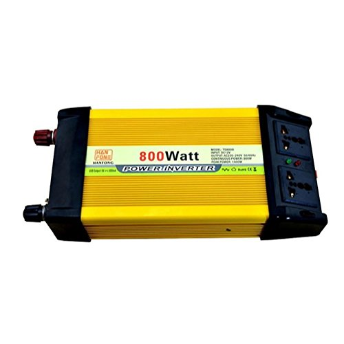 Auto Power Inverter 800W DC 12V auf AC 110V Power Konverter Inverter Netzteil Power Inverter (gelb) 800w 800 Watt Power Inverter