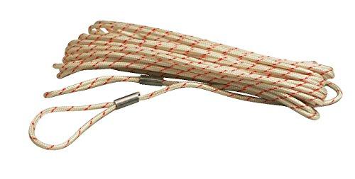 Sport-Thieme Ersatz-Spannseil aus Kevlar | Für alle Sport-Netze geeignetes Kevlar-Seil | Länge: 11,7 Meter | Multi-Position Lenker | Mit 2 Schlaufen | Deutsche Markenqualität -