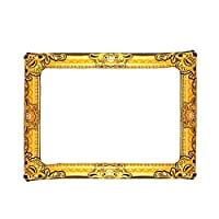 Inflatable Gold Photo Frame Prop Party Picture Booth Handheld Selfie Accessory