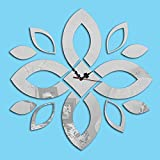 Adesivi murali Specchio Acrilico Tridimensionale Petali Adesivi Fai da Te Semplice Decorazione degli Interni Adesivi Sfondo, Mirror Black (Colore : Mirrorsilver)