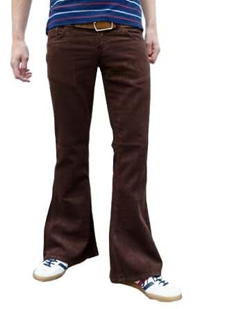 r tro hommes marron pattes d 39 l phant velours c tel fus es vintage ann es 60 pantalon amazon. Black Bedroom Furniture Sets. Home Design Ideas