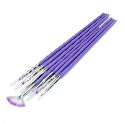 FACILLA® 7 x Pinceaux Brosses à Ongle pour Déco Gel UV Verni Nail Art Manucure Pro