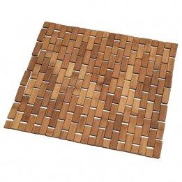 Badteppich Holzrost quadratisch, Bambus, Natur