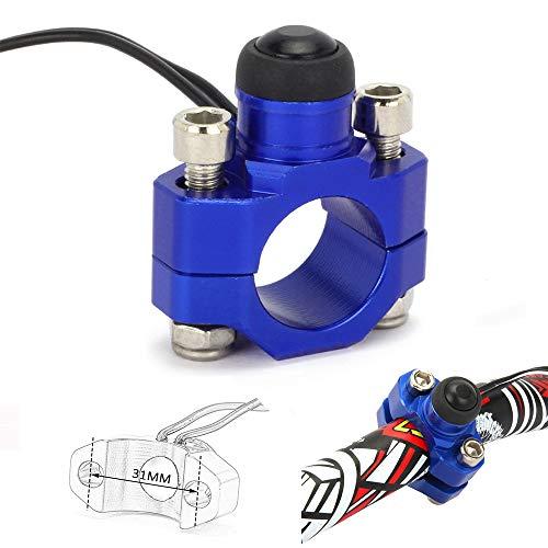 JFGRACING CNC Universal Motorrad Motor Stop Start Kill Switch Button mit Mounting Backplate für 7/20,3cm Lenker Yamaha YZ250YZ450WR250WR450-Blau -