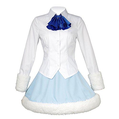 Fan Kouyang Cosplay Anime Uniform Langärmelige Japanese School Uniform (Maßgeschneiderte, Blau-Weiss)