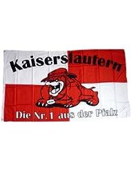 Flagge Fahne Kaiserslautern Bulldogge Fan 90 x 150 cm FLAGGENMAE®