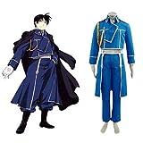 Fullmetal Alchemist Roy Mustang · costume cosplay uniforme militare,Taglia L (altezza 168cm-172 cm, peso 60-70 kg)