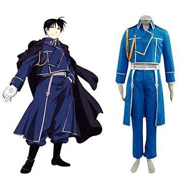 Sunkee Fullmetal Alchemist Roy·Mustang Militär Uniform Cosplay Kostüm , Größe M: (Höhe 160cm-168cm, Gewicht 50-60 kg)