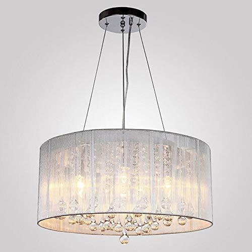 JUSTDOIT Moderne Kristall Regentropfen Kronleuchter Beleuchtung LED Leuchte Pendelleuchte Durchmesser 47 cm Höhe 20 cm für Esszimmer Badezimmer Schlafzimmer Wohnzimmer