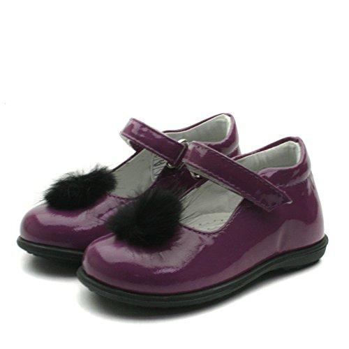 SB157 Studio BIMBI Dolly Shoe w/PomPom Smart for Girls >     > dolly chaussures à pompom pour une occasion de fête pour les filles Violet (violet)