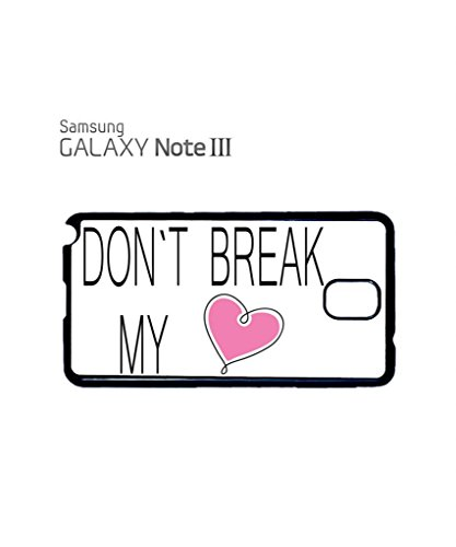 Do Not Break My Heart Mobile Cell Phone Case Samsung Galaxy S5 Mini Black Blanc