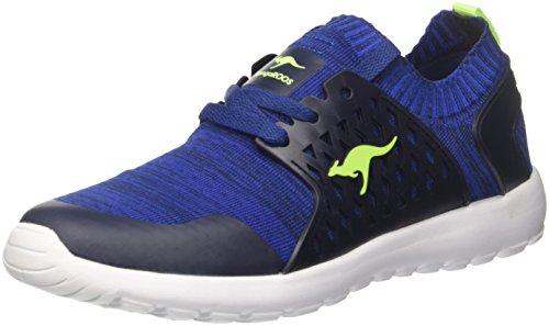 KangaROOS Unisex-Kinder W-481 Kids S Sneaker, Blau (Dk Navy/Lime), 38 EU