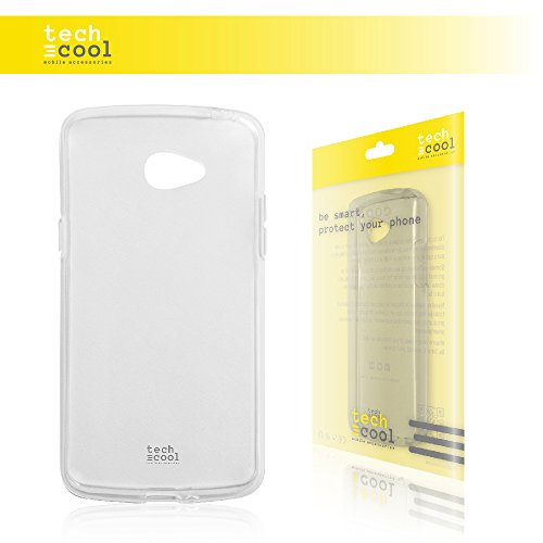 TechCool LG K5 Hülle, SchutzHülle Premium Soft Flex TPU Silikon Transparent für LG K5 l Case, Cover, Handy [Ultra Dünn 1,5mm] [Kratzfest] (Klar)