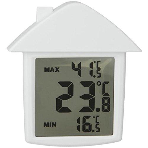 Metaltex Thermomètre numérique de fênetre en Blanc, 10x9x2 cm