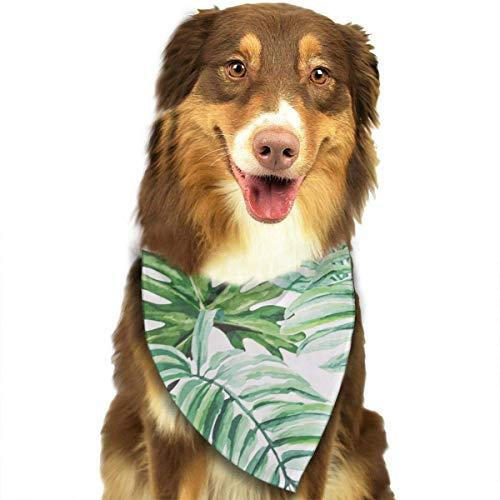 Rghkjlp Dogs Bandana Collars Rainforest Banana Leaf Pattern Pets Triangle Neckerchief Puppy Bibs Scarfs Cats Scarfs Towel