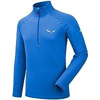 SALEWA Ortles Cubic Pl M L/S tee Camiseta Interior, Hombre, Azul (Royal Blue), 50/L