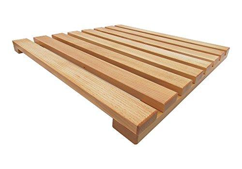 Pedana doccia lato cm in legno larice per piatto doccia