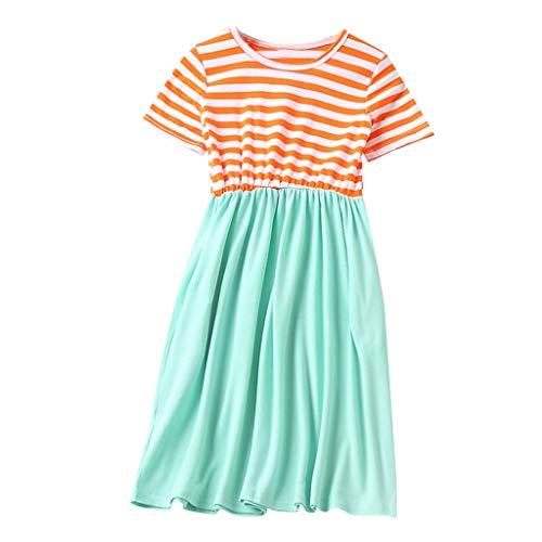 Cooljun Family Matching Dress 2019 Neueste Mama & Ich Kind Mädchen Kurzarm Oansatz Spleißen Rock Familie Kleidung Kleid (Verkauf Kinder Schule Kleidung)