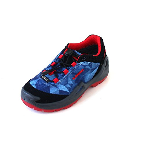 Lowa Ticino GTX Lo Junior Jeans Orange Blau (Blue/Red)
