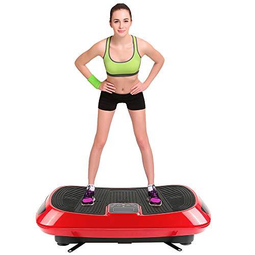 Vibrationsplatte,4D Trainingsgerät Fitness Vibration Oszillation mit 3 Motoren,Trainingsbänder,Bluet