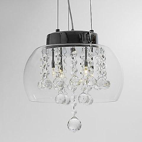 JUNQL& Lampada di vetro a sospensione di cristallo di arte 4-luce . (120 Volt 4 Catena Luce)