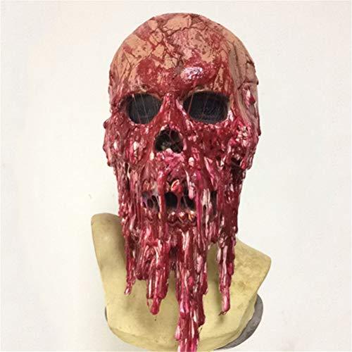 Scary Mask - Halloween Requisiten ekelhaft rot blutige Zombie Maske Biohazard Kopfbedeckung Halloween Kostüm Party Latex Requisiten ()