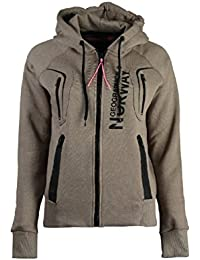 Geographical Norway - Sweat à capuche Femme Geographical Norway Gosepha Taupe