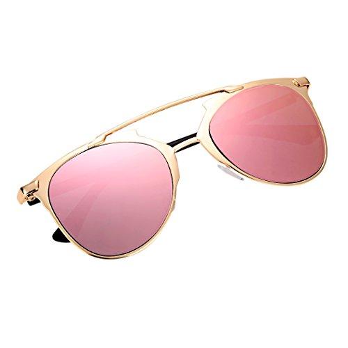 Vintage estilo unisex espejo lente gafas de sol gafas gafas de metal m