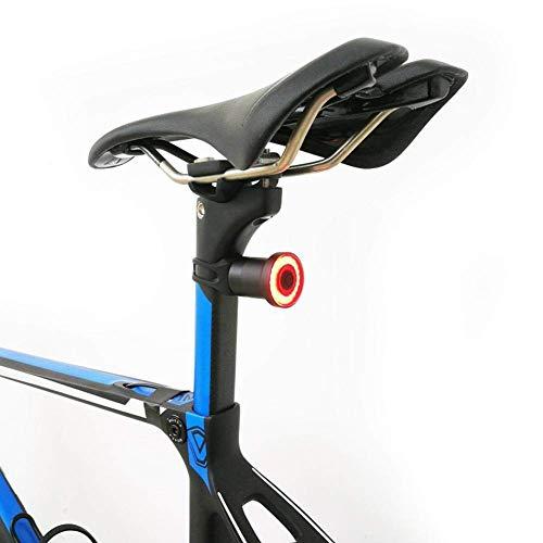Luz Trasera de Bicicleta Recargable USB, Luz de Bicicleta Trasera, Automático on/Off, Detección de Frenos, luz de Bicicleta LED Roja de Alta Intensidad para Cualquier Bicicleta de Carretera