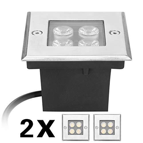 eSky24 - Foco led empotrable en el suelo para exteriores (4 W,...