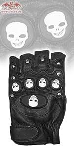 Bikerhandschuhe 'Skulls'
