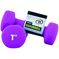 Fitness Mad Neo - Set de 2 Mancuernas / pesas de 1kg/u, color purpura