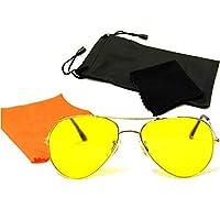 Antifar Gece Görüş Gözlüğü Anti Far Gözlük Damla Model Işık Far Parlama Önleyen Bay Bayan Gözlük