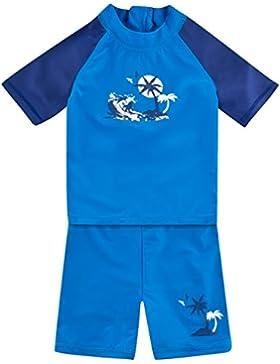 Landora®: Baby- / Kleinkinder-Badebekleidung kurzärmliges 2er Set mit UV-Schutz und Oeko-Tex 100 Zertifizierung...
