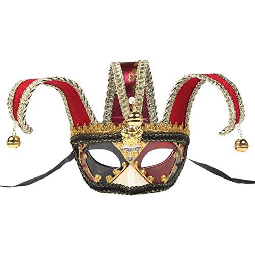 Zhhlaixing Maskerade Maske Jester Venezianische Männer Musik Mardi Gras Wall Halloween Augenmaske Hauptwand Hängendes Verzierungs Dekorations Geschenk Gesicht Paar Wunderschöne Kostüme Zubehör