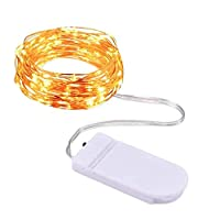 String Lights Fairy Lights Starry Battery Operated Copper Wire Decoration 7.2Ft (2M) 20 Led Warm White