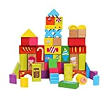 #5: Happy Giftmart Farm Building Blocks Wooden Blocks Animal And Shape Educational Learing Game For Kids (Multi Color-52 Pcs)