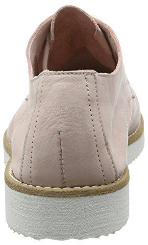 Fred De La Bretonnière Fred Lace Up Shoe White Sole Vigo, Derby femme Rose - Rose