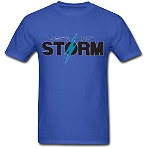 Men's Tampa Bay Storm Arena Football Logo Royal blue T Shirt XXXX-Large