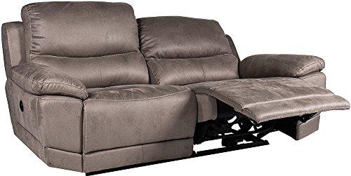 Destock meubles divano relax meccanismo elettrico new nobuck grigio 3coperti–alcoton