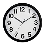 Premier Housewares Wall Clock with Silver Hands - Black