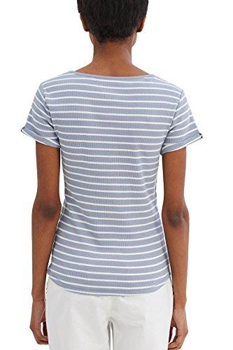 edc by ESPRIT Damen T-Shirt 037cc1k022 Blau (Light Blue Lavender 445)