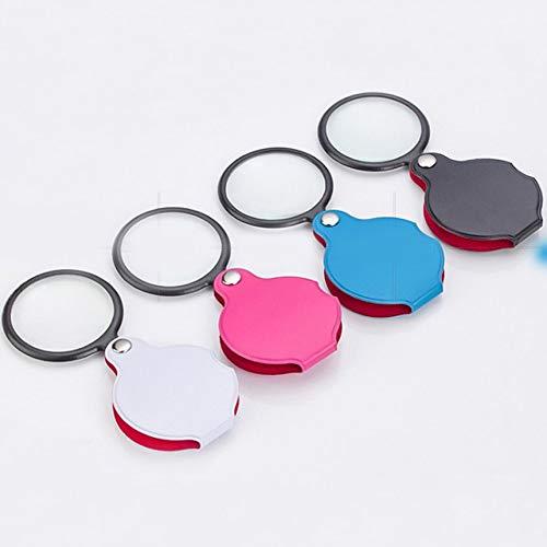 6-fache Vergrößerung Taschenlupe Optische Glaslinse Faltbare Ledertasche Schmuck Lupe Brillenglas Lupe Linse - Zufällig