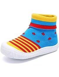 Niño Bebé Niño Zapatos de Primer Caminante Niño/niña Calcetines de Malla ...